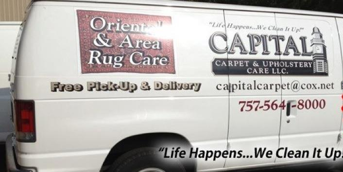 Capital Carpet and Services. Life happens we clean it up
